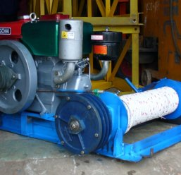 Máy tời  PL4; 100kg dùng mô tơ điện