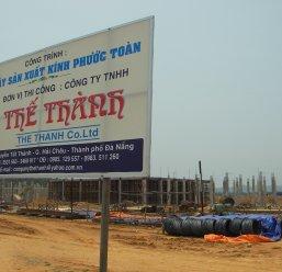 Nhà máy kính Phước Toàn Chu Lai