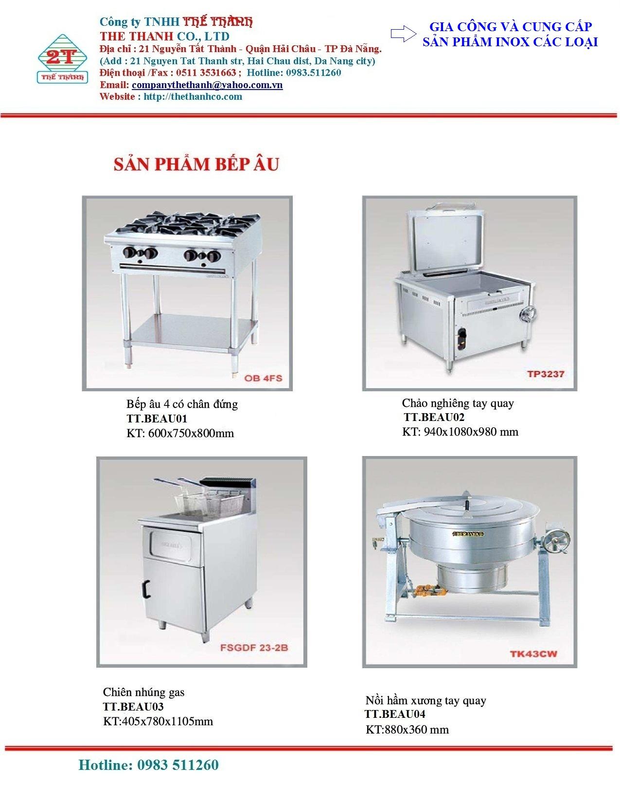 Hệ thống nội thất, tủ bếp bằng Inox